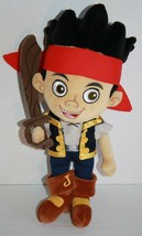 "JAKE AND THE NEVERLAND PIRATES 14"" Disney Store Plush Doll Stuffed Soft Toy - $8.29"