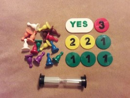 SMARTY PARTY Game replacement pieces parts SAND TIMER POINT CHIPS PLAYER... - $9.49