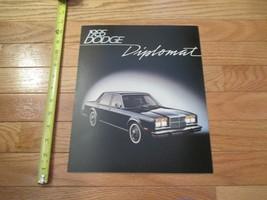 Dodge Diplomat 1985 Car truck Dealer Showroom Sales Brochure - $9.99