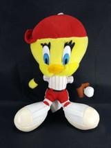 "Tweety Bird Plush Baseball Player Looney Tunes Plush Stuffed Animal 10"" ... - $11.87"