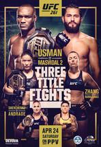 UFC 261 Poster Usman vs Masvidal 2 Poster MMA UFC Event New Art Print 24... - $10.90+