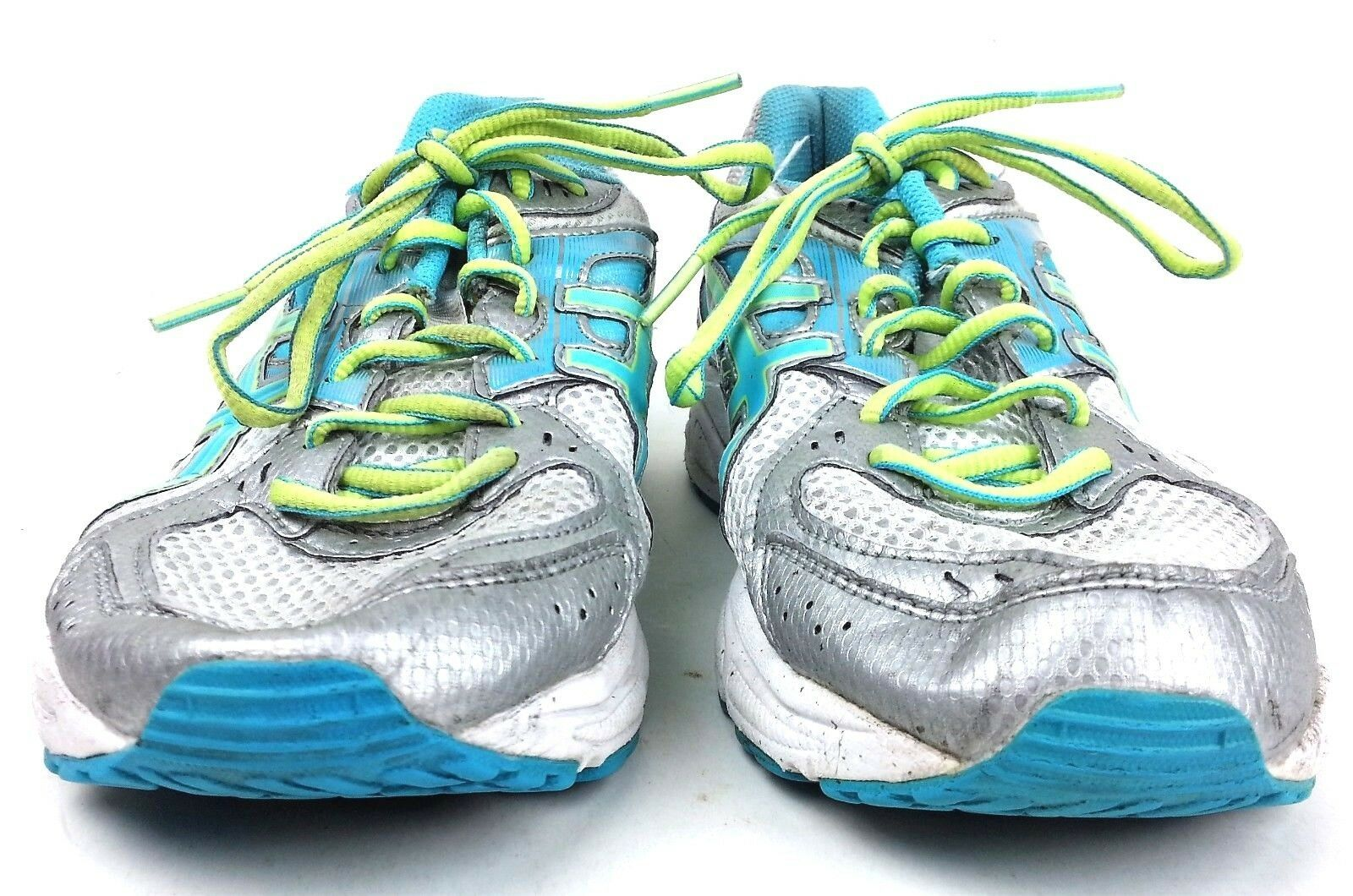 Asics Womens Gel Contend 2 Running Shoes Size 9.5 Sneakers T474N Silver Teal image 7