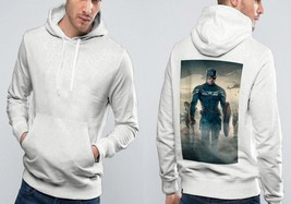 Captain America 2 The Winter Soldier Classic Hoodie Men  White - $39.99