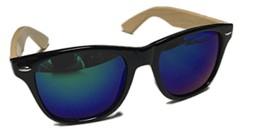 Bamboo sunglasses wooden Finest Men's Women's 55 MM Polarized Arms Black - $23.56