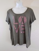 Torrid tee size 3 gray color breast cancer fight - $13.99