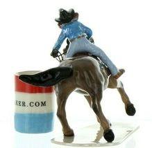 Hagen Renaker Specialty Horse Rodeo Barrel Racer Ceramic Figurine image 4