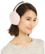 INC International Concepts Teddy Faux Fur Earmuffs, Blush, One Size - $14.69
