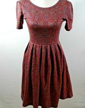 LuLaRoe Simply Comfortable Nicole Womens Burgundy Red Textured Dress Small - $19.57