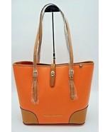 Dooney & Bourke Claremont Dover Coral Orange Leather Shoulder Bag Tote N... - $198.00
