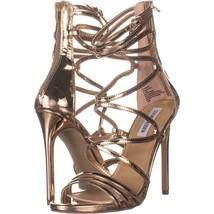Steve Madden Strappy Heeled Sandals 697, Rose Gold, 9.5 US - $28.79