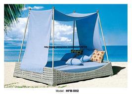 Beach bed Outdoor Furniture Rattan bed Sofa Bed Resort - $1,598.00