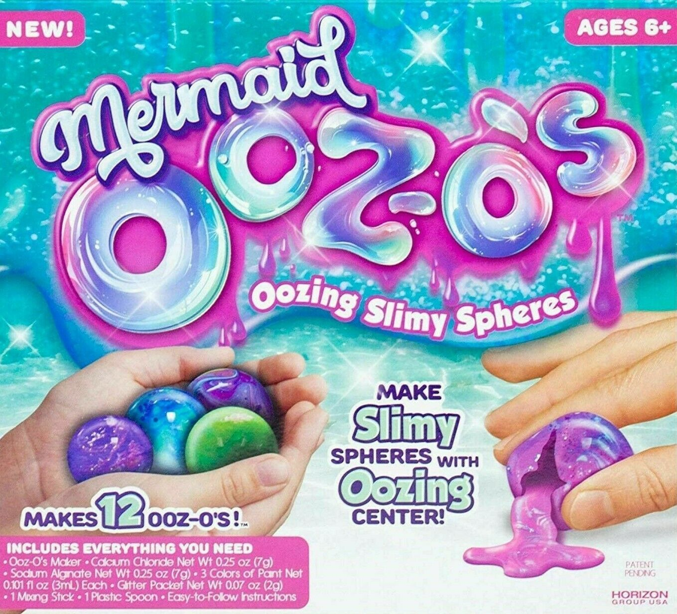 New Mermaid Ooz-o's Oozing Slimy Make Your Own Slimy Spheres With Oozing Centers