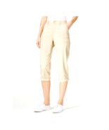 Lee Platinum Women's Beige Relaxed Fit Cuffed Capri Cropped Pants Size 4... - $13.60
