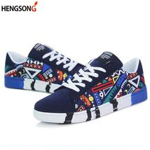 Unisex Students Men White Printing Shoes Vulcanized 2018 S Fashion Shoe Graffiti aCn5EwqST
