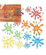 "Paint Splatter Floor/Wondow Decals  (14 Pack) 3 1/4"" - 6 1/2"" - $13.29"