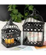 2Pcs White Metal Wedding Birdcages Gifts Card Holder Vintage Decorative ... - $34.78