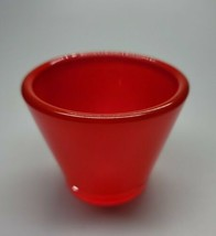 Crate & Barrel Lolli Red Glass Votive Lamp Candle Tealight Germany EUC 2... - $11.99