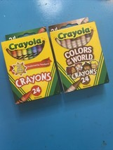 crayola crayons 24 pack 2 Lot  - $4.95