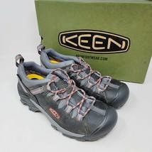 KEEN Targhee ll Womens Low Waterproof Hiking Boot Magnet/Coral Size 9.5 - $108.87