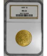 1808 $5 Capped Head Bust Left, MS62 NGC Old Holder PCGS Price 17K - £10,811.69 GBP