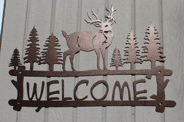 Deer and Trees Welcome Sign Metal Wall Art - $44.00+