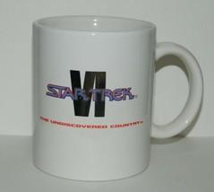 Star Trek VI: The Undiscovered Country Movie Logo Ceramic Mug 1991 Creation - $7.80