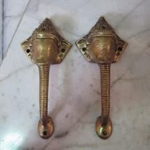 Brass Door Handles Puller Ganesha Hindu God of Success & Lucky Garden Ha... - $168.30