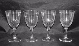 "Lenox Crystal Set of 4 Wine Glasses 6"" high - $39.60"