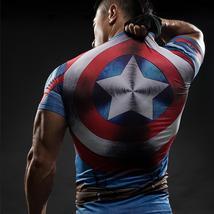 T Shirt Captain America Shield Civil War Tee 3D Printed T-shirts Men Mar... - $13.47+