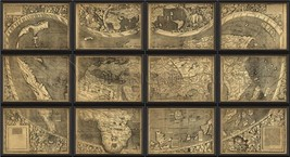 Artwork Stylized Map Africa and Asia Large BC N... - $3,579.00