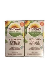 2 x  Sundown Organics Respond Immune Complex Vitamin C, D3+Mushrooms Exp06/2022 - $19.79