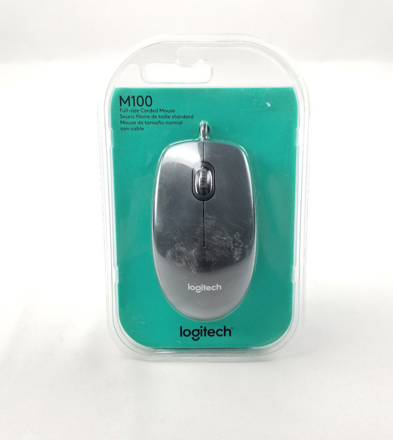 4b6f7479d3c S l1600. S l1600. Previous. Logitech M100 Wired Optical Mouse Mice 1000DPI  USB - Black ...