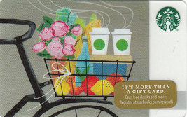 Starbucks 2014 Bicycle Romance Collectible Gift Card New No Value - $4.99