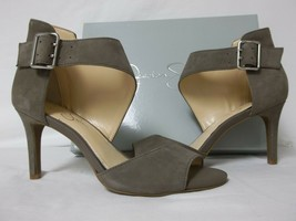 Jessica Simpson 8.5 M Marrionn Taupe Leather Open Toe Heels New Womens S... - $47.40