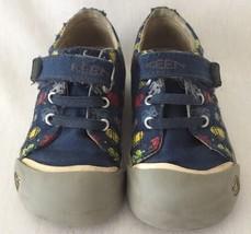 Keen Size 7 Kids Boys Sneakers Shoes Robots Blue Canvas - $27.09