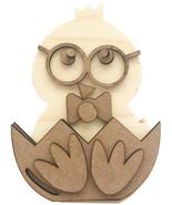 """Foundations Decor Interchangeable """"O"""" Wood Shape-Lil Chick - $20.38"""