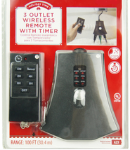 Holiday Time Christmas Lights 3 Grounded Outlet Wireless Remote with Tim... - $15.50