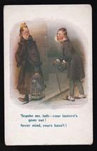 Scushe Me, Lady Your Lantern's Out Vintage Artists Signed Postcard D. Tempest - $4.12