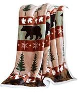 Carstens, Inc Soft Sherpa Plush Throw Blanket, Cascade Ridge - $25.52