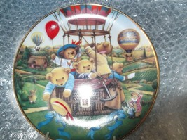 """TEDDY BEAR """"TAKEOFF"""" COLLECTIBLE PLATE FROM CAROL LAWSON FRANKLIN MINT - €7,11 EUR"""