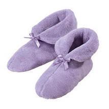 Chenille Slippers-MED-Lavender - $15.24