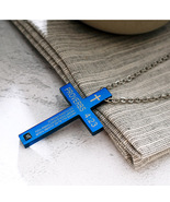 Religious Stainless Steel 4:23 Proverbs Necklace Bible Cross Pendant Nec... - $12.90