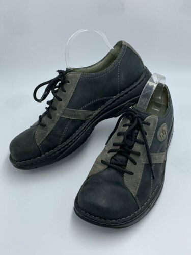 Merrell Mens 10 Charcoal Black Oxford Lace Up Leather Shoes