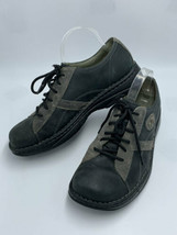 Merrell Mens 10 Charcoal Black Oxford Lace Up Leather Shoes - $27.99