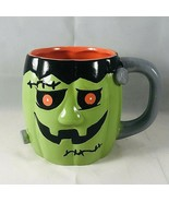 Stoneware Frankenstein Monster Halloween Cracker Barrel Coffee Mug  - $15.79