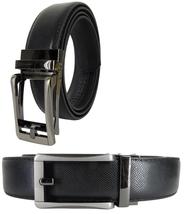 Men Genuine Leather Automatic Ratchet Click Lock Buckle Belt Style:HK113Gun - $9.99