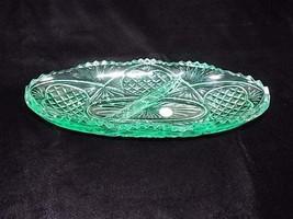 Dalzell Viking Glass Yesteryear Divided Oblong Condiment Dish Light Spring Green - $40.00