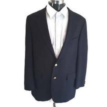 Chaps Ralph Lauren Mens Suit Jacket Blue Notch Lapel Single Vent 100% Wo... - $36.62