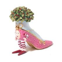 Department 56 Krinkles Pin High Heel Shoe Jeweled Trinket Box Ornament - $34.95