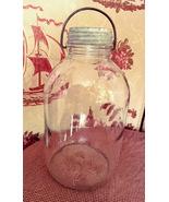Owen Illinois Glass Company Duraglas Jar with Bail handle 1940-50 - $30.00